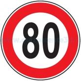 LIMITE MASSIMO DI VELOCITÀ DI 80 KM/H