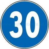 LIMITE MINIMO DI VELOCITÀ DI 30 KM/H