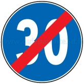 FINE DEL LIMITE MINIMO DI VELOCITÀ DI 30 KM/H