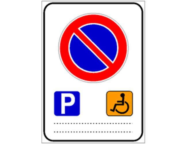 Divieto di sosta contrassegno persone invalide